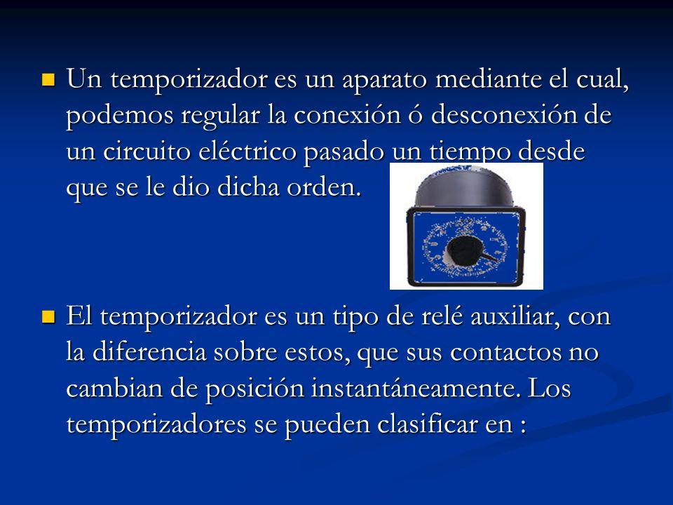 Un temporizador es un aparato mediante el cual, podemos regular la conexión ó desconexión de un circuito eléctrico pasado un tiempo desde que se le di