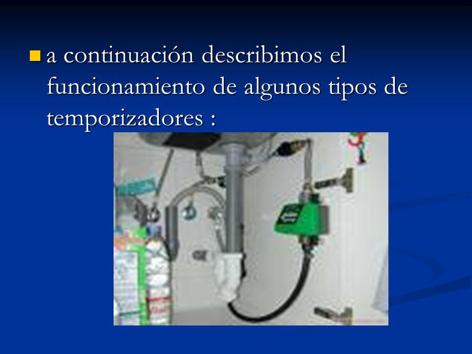 a continuación describimos el funcionamiento de algunos tipos de temporizadores : a continuación describimos el funcionamiento de algunos tipos de tem