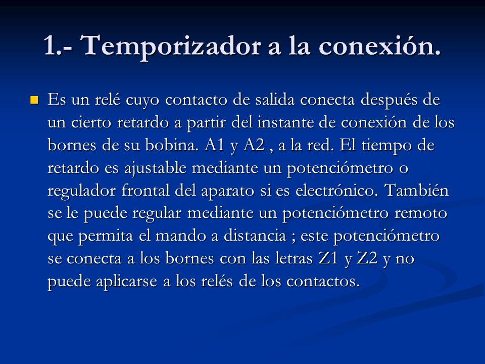 2.- Temporizador a la desconexión.