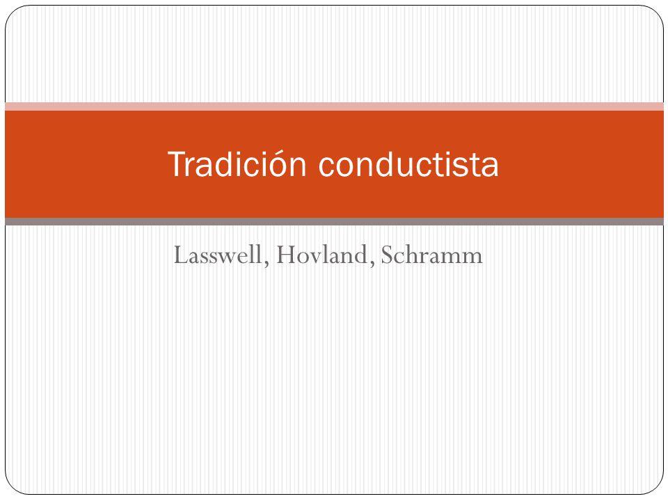 Lasswell, Hovland, Schramm Tradición conductista