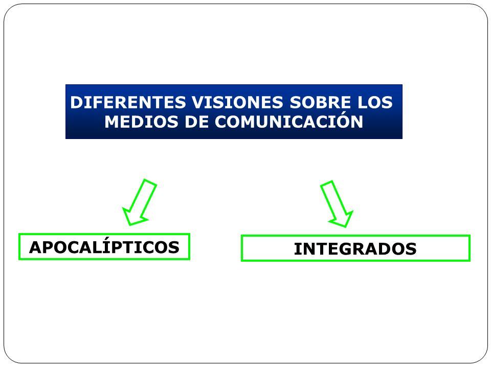 DIFERENTES VISIONES SOBRE LOS MEDIOS DE COMUNICACIÓN APOCALÍPTICOS INTEGRADOS