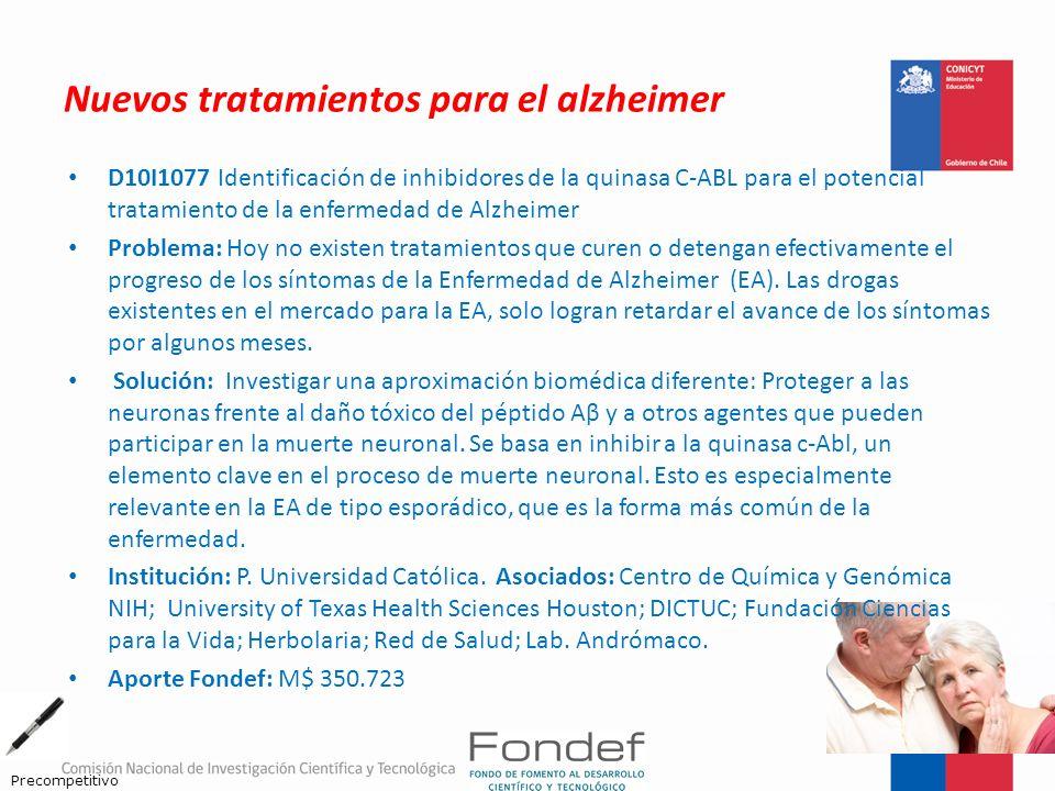 Nuevos tratamientos para el alzheimer D10I1077 Identificación de inhibidores de la quinasa C-ABL para el potencial tratamiento de la enfermedad de Alz
