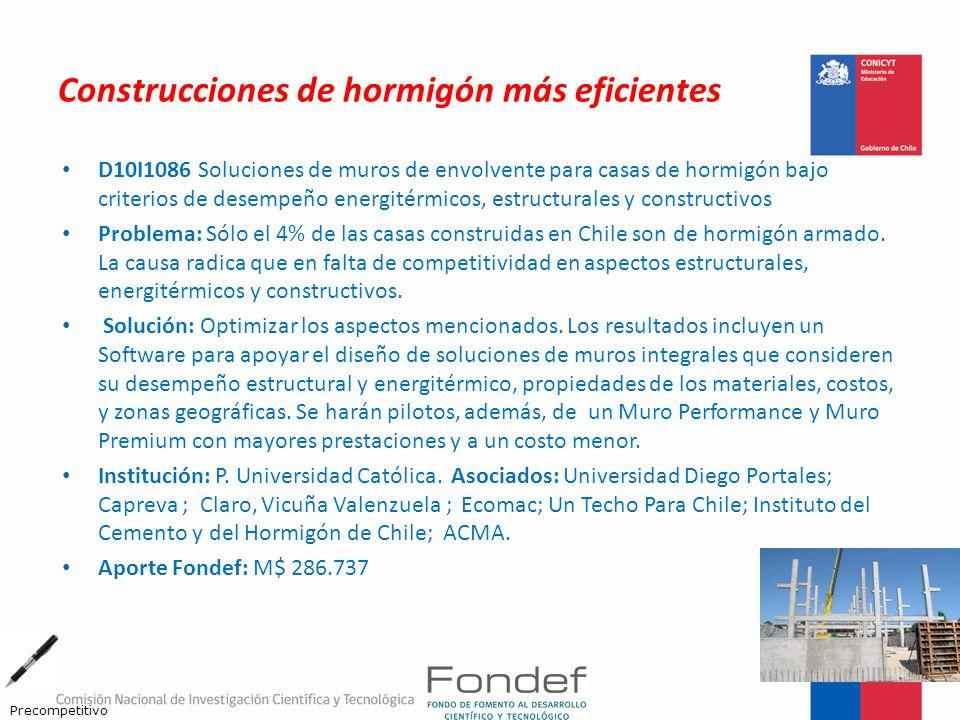 Construcciones de hormigón más eficientes D10I1086 Soluciones de muros de envolvente para casas de hormigón bajo criterios de desempeño energitérmicos