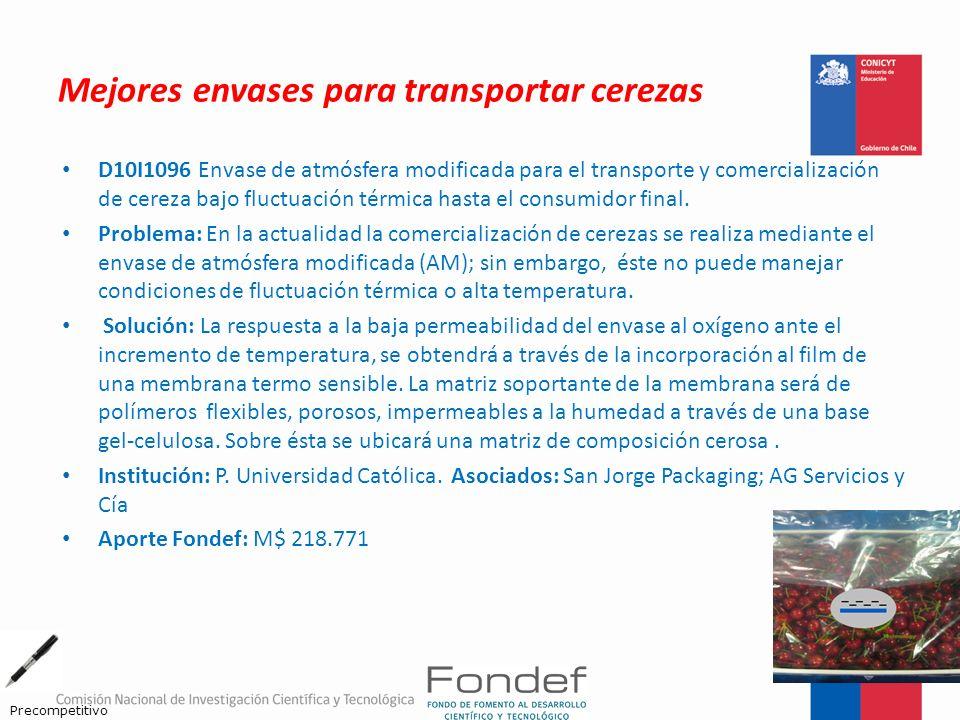 Mejores envases para transportar cerezas D10I1096 Envase de atmósfera modificada para el transporte y comercialización de cereza bajo fluctuación térm