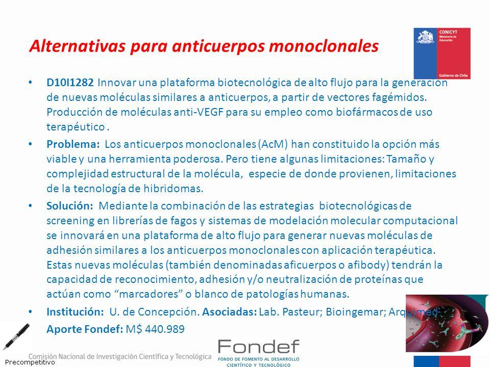 Alternativas para anticuerpos monoclonales D10I1282 Innovar una plataforma biotecnológica de alto flujo para la generación de nuevas moléculas similar