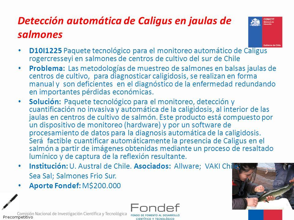 Detección automática de Caligus en jaulas de salmones D10I1225 Paquete tecnológico para el monitoreo automático de Caligus rogercresseyi en salmones d
