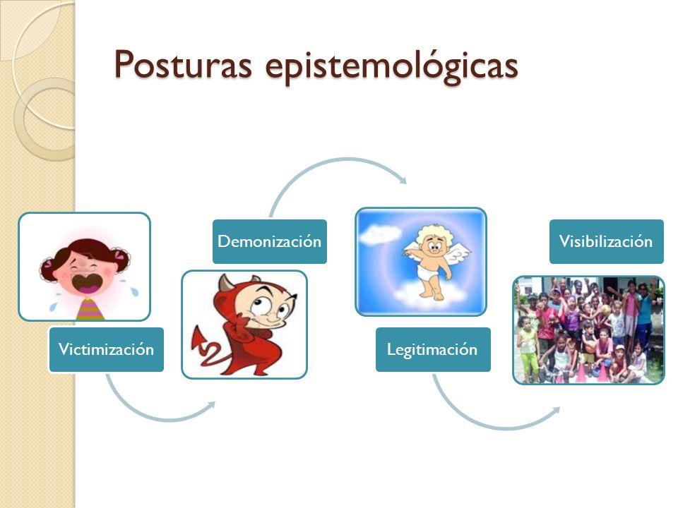 Posturas epistemológicas VictimizaciónDemonizaciónLegitimaciónVisibilización