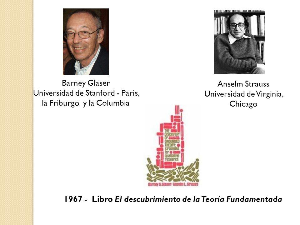 Barney Glaser Universidad de Stanford - Paris, la Friburgo y la Columbia 1967 - Libro El descubrimiento de la Teoría Fundamentada Anselm Strauss Unive