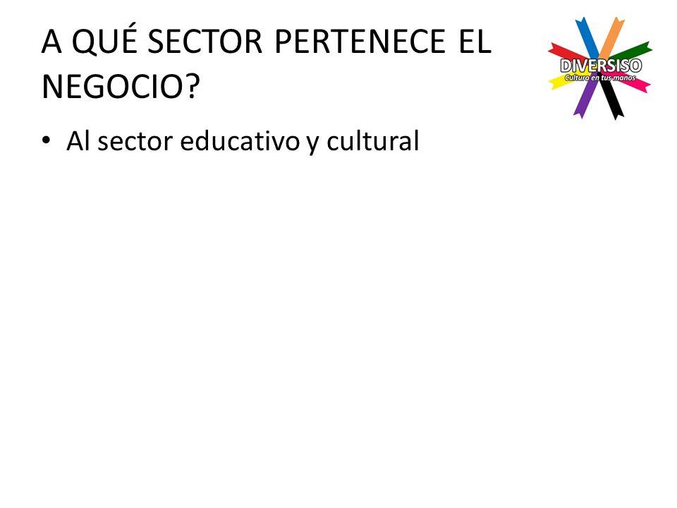 A QUÉ SECTOR PERTENECE EL NEGOCIO Al sector educativo y cultural