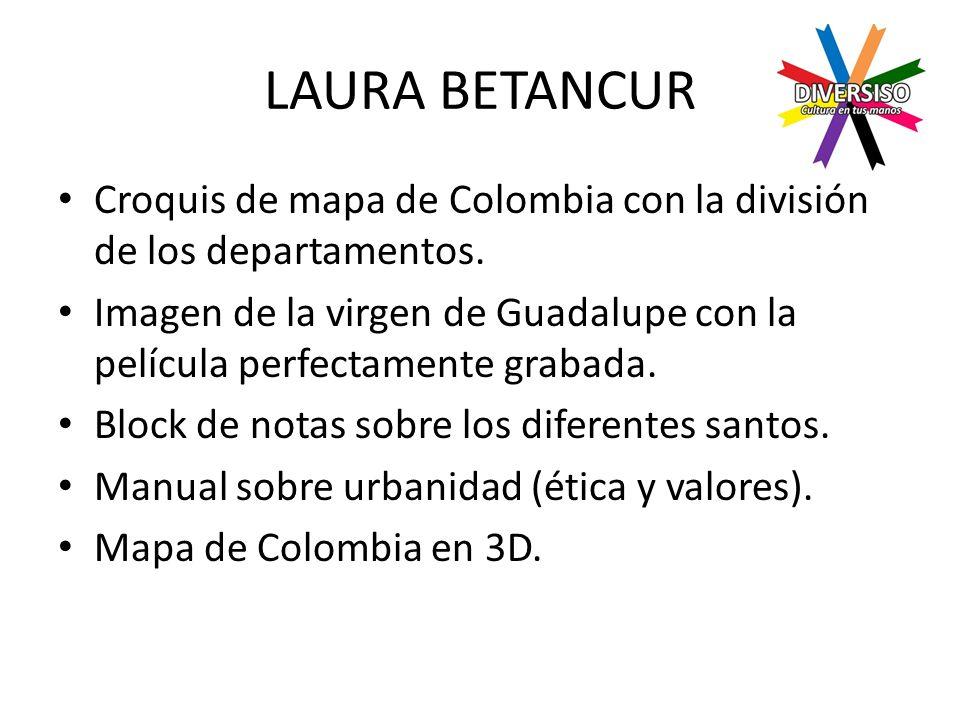 LAURA BETANCUR Croquis de mapa de Colombia con la división de los departamentos.