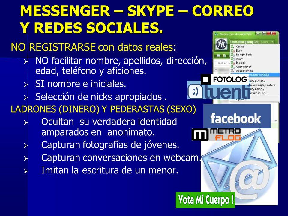 10 MESSENGER – SKYPE – CORREO Y REDES SOCIALES.