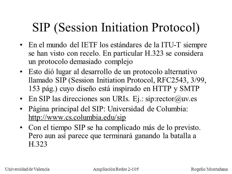 Universidad de Valencia Rogelio Montañana Ampliación Redes 2-104 Sumario Fundamentos de telefonía.