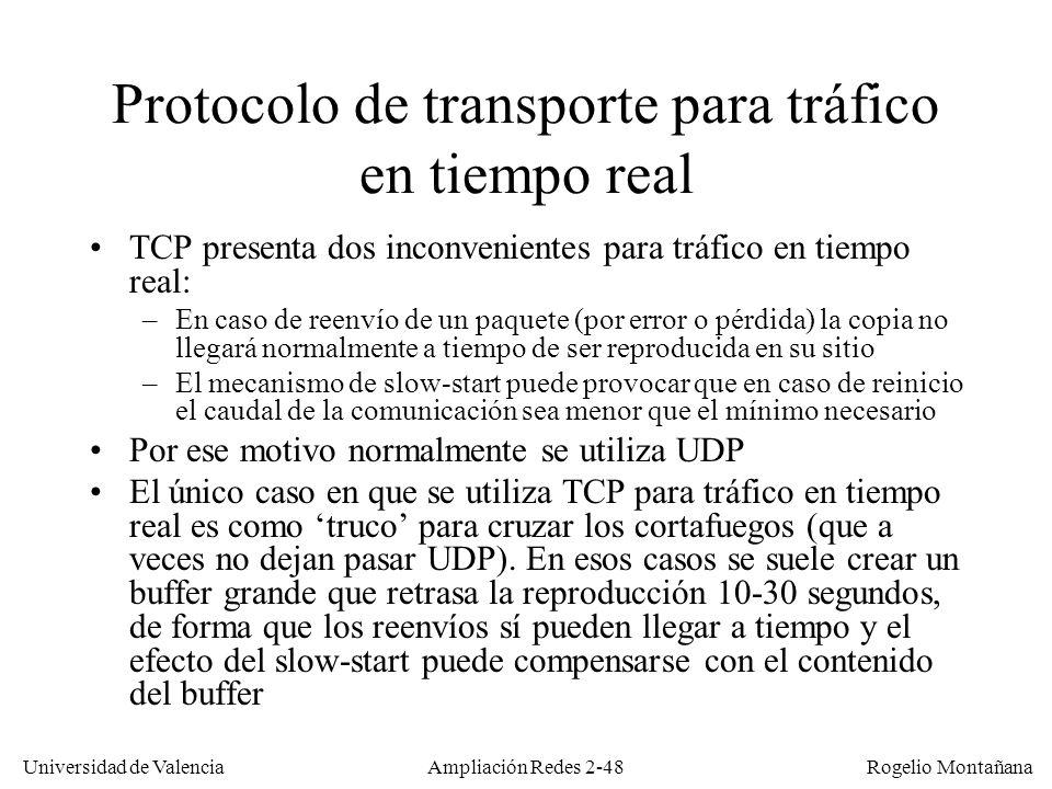 Universidad de Valencia Rogelio Montañana Ampliación Redes 2-47 Sumario Fundamentos de telefonía.