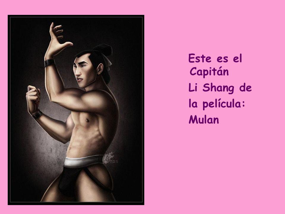 Este es el Capitán Li Shang de la película: Mulan