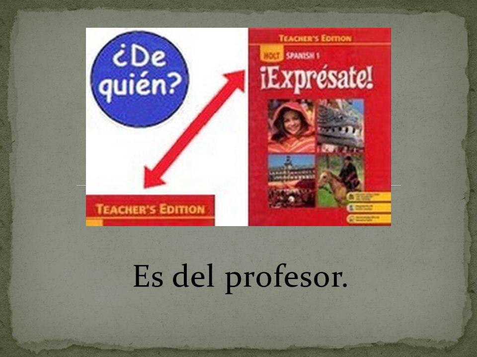 Es del profesor.