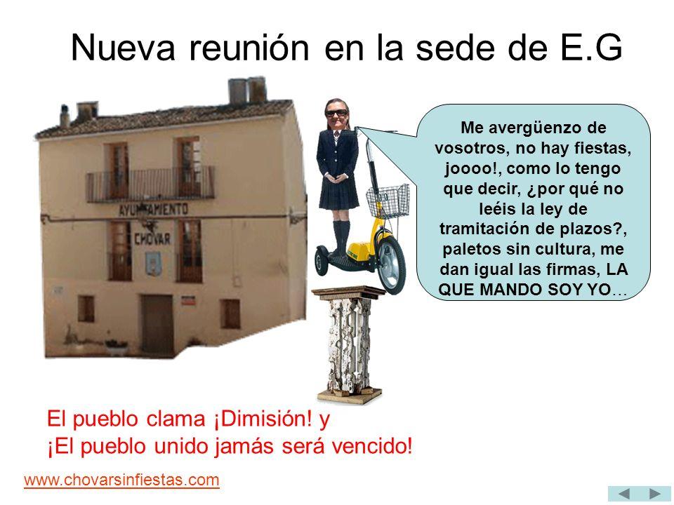 www.chovarsinfiestas.com E.G al completo habla a P.U.G.F(Pueblo Unido con Ganas de Fiesta y a M.G.F (Mayorales con Ganas de Fiesta) Jo, que pesaos.