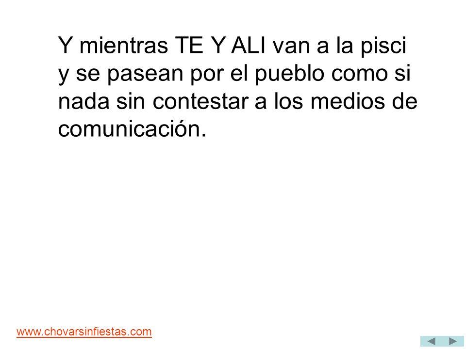 www.chovarsinfiestas.com LA CARTA DE TE, ERA MENTIRA LOS MAYORALES TENIAN RAZON Un documento de la Generalitat Valenciana desmiente la carta de la alcaldesa.