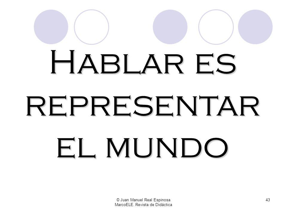 © Juan Manuel Real Espinosa MarcoELE. Revista de Didáctica 42 Frente al carácter estático e identificativo de ser, estar nos permite expresar una noci