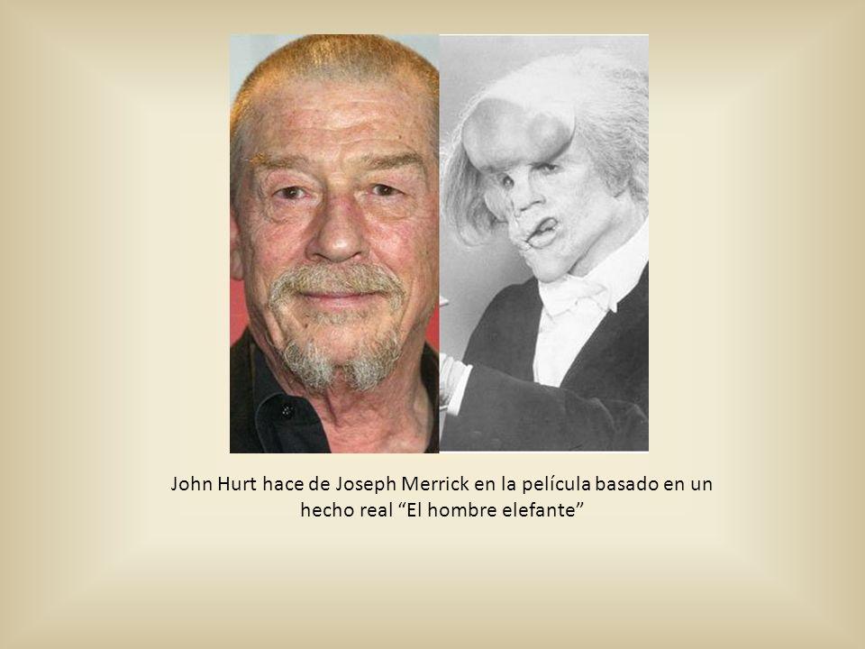 John Hurt hace de Joseph Merrick en la película basado en un hecho real El hombre elefante