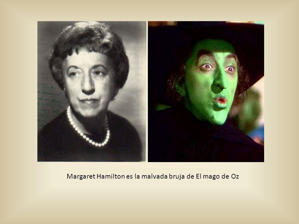 Margaret Hamilton es la malvada bruja de El mago de Oz