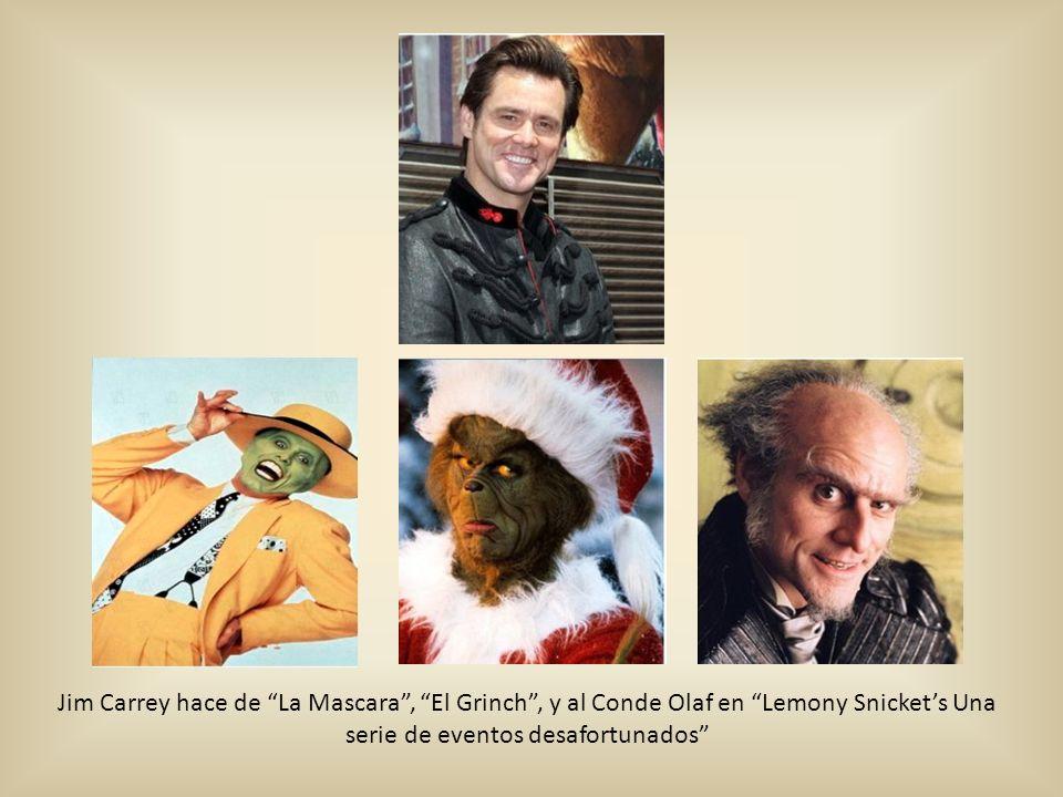Jim Carrey hace de La Mascara, El Grinch, y al Conde Olaf en Lemony Snickets Una serie de eventos desafortunados