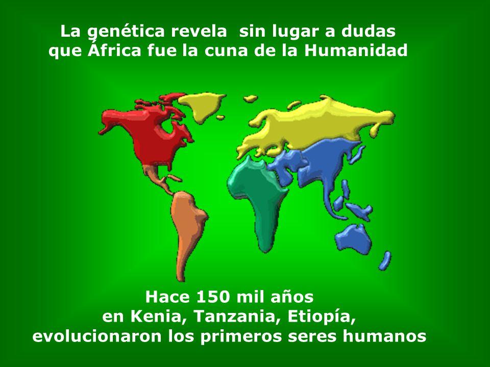 Todas las mitocondrias femeninas como enlazadas en un larguísimo cordón umbilical conducen a África
