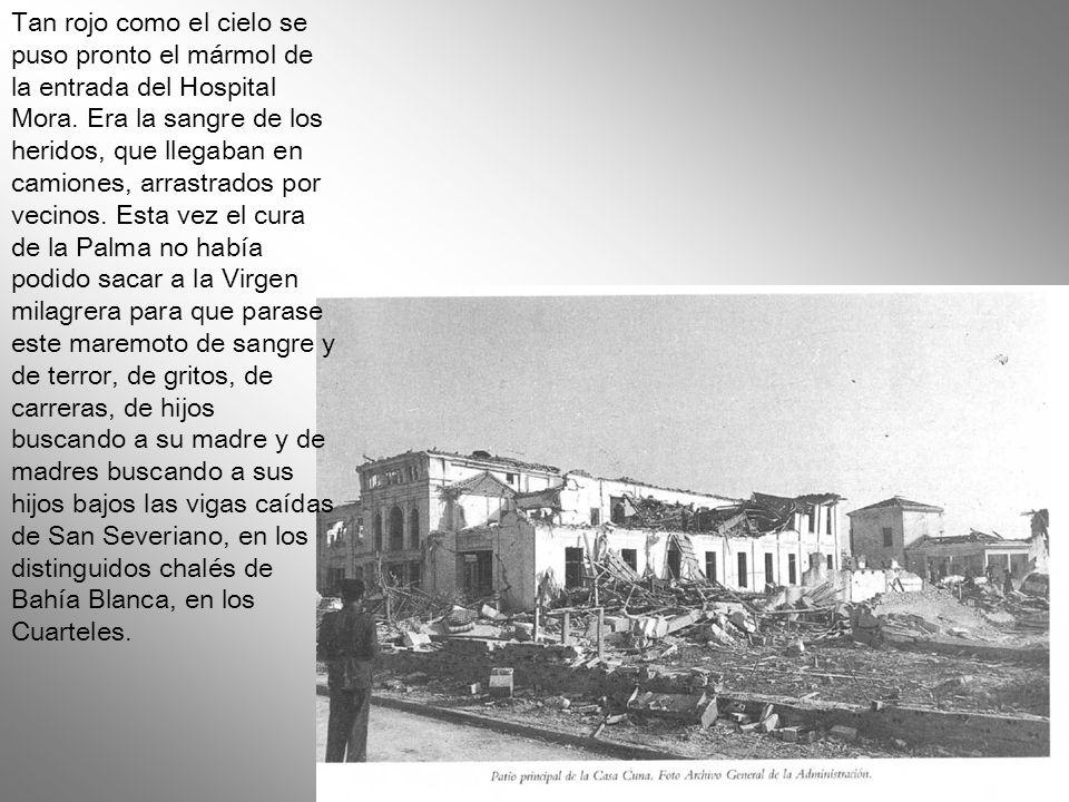 En todo Cádiz se fue la luz y vinieron los gritos, las carreras, las sombras, el temor. Los que estaban en el cine de verano corrían a sus casas, que