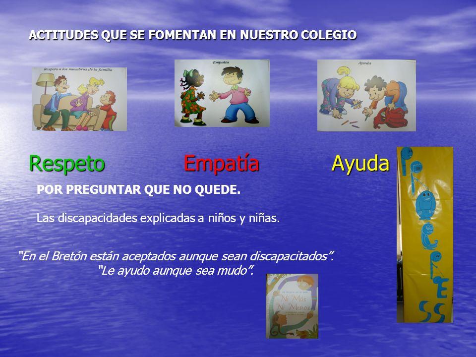 Respeto Empatía Ayuda ACTITUDES QUE SE FOMENTAN EN NUESTRO COLEGIO POR PREGUNTAR QUE NO QUEDE.
