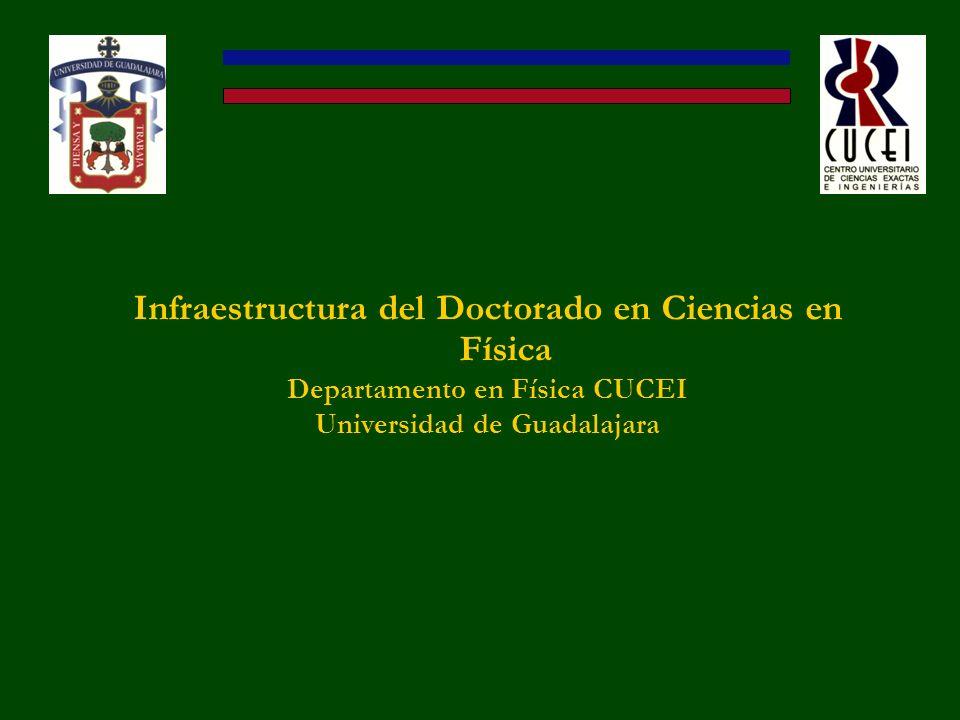 Infraestructura del Doctorado en Ciencias en Física Departamento en Física CUCEI Universidad de Guadalajara