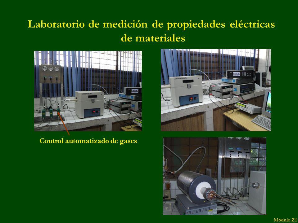 Laboratorio de medición de propiedades eléctricas de materiales Control automatizado de gases Módulo Z1