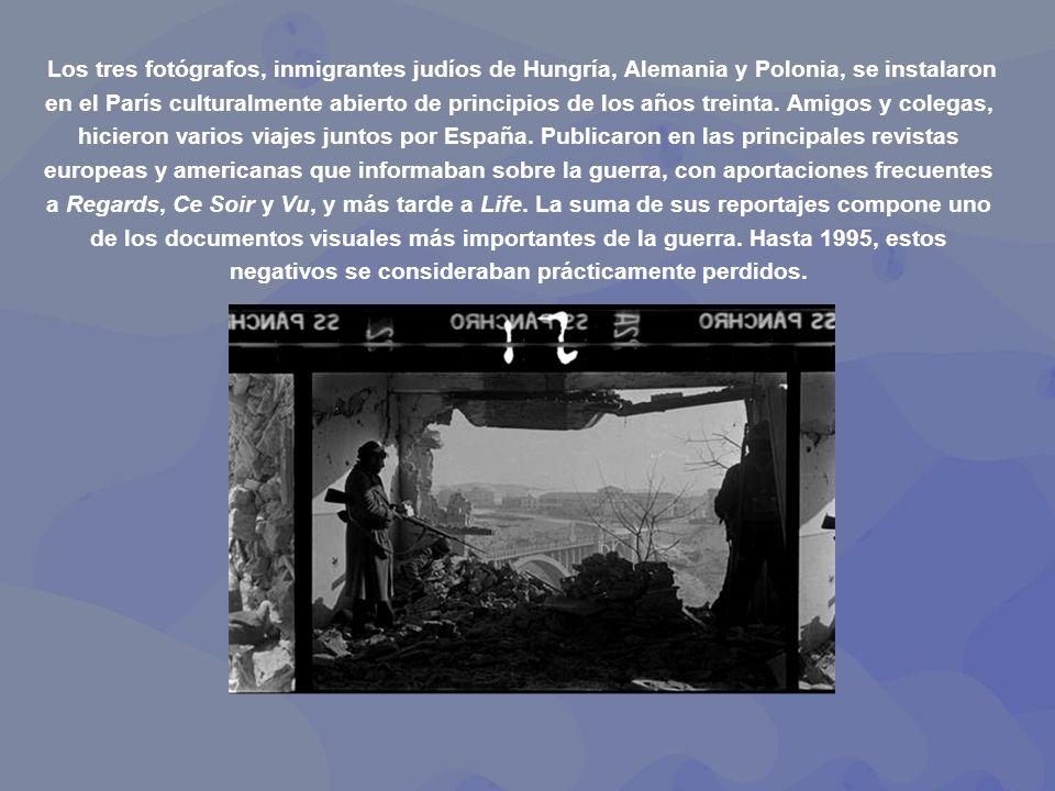 Los tres fotógrafos, inmigrantes judíos de Hungría, Alemania y Polonia, se instalaron en el París culturalmente abierto de principios de los años treinta.
