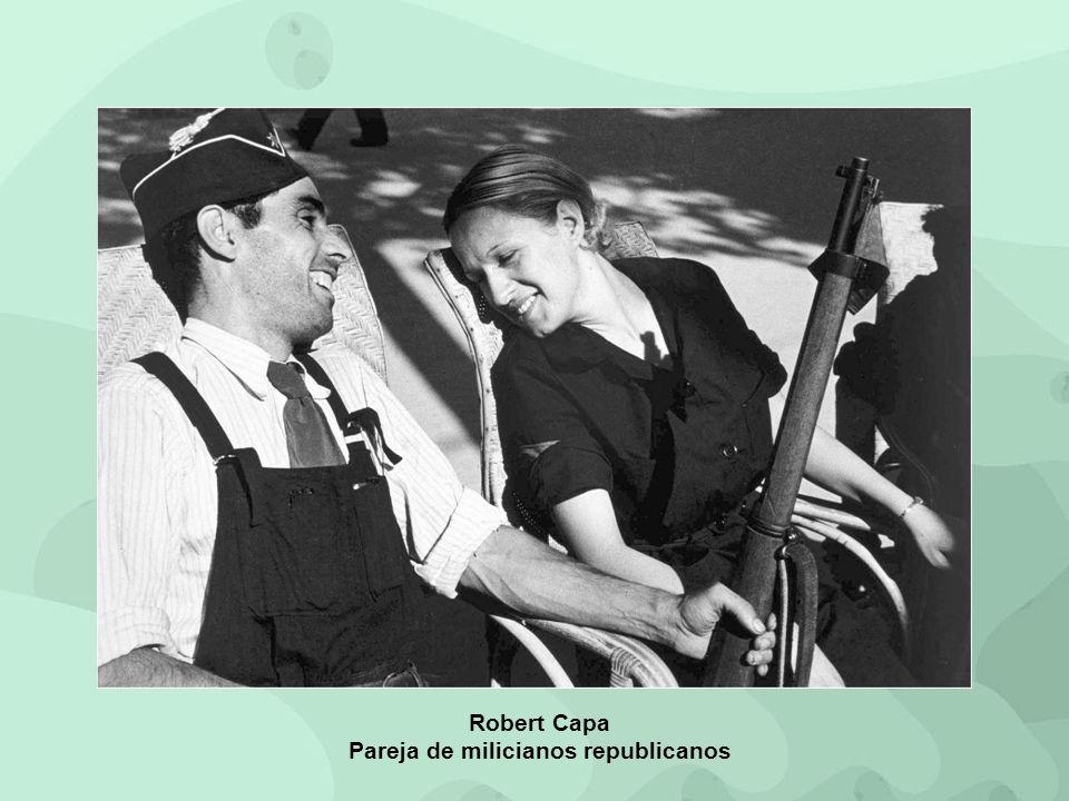 Robert Capa Pareja de milicianos republicanos