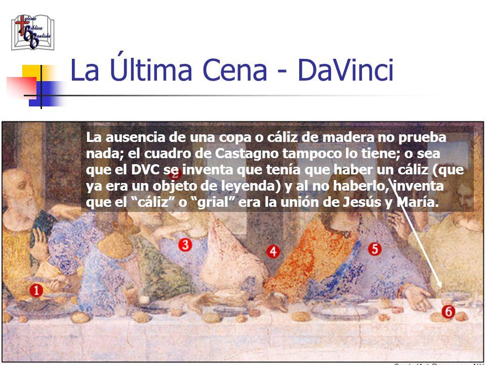 www.iglesiabiblicabautista.org 100 La Última Cena - DaVinci Al igual que la M.