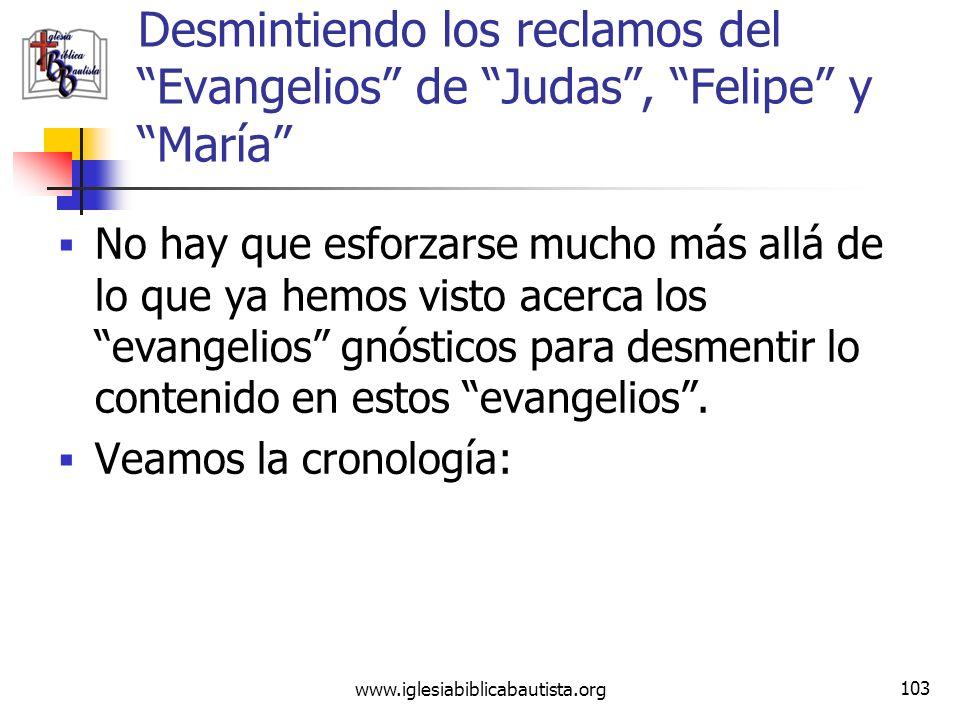 (787) 890-0118 www.iglesiabiblicabautista.org Iglesia Bíblica Bautista de Aguadilla Desmintiendo los reclamos del Evangelios de Judas, Felipe y María