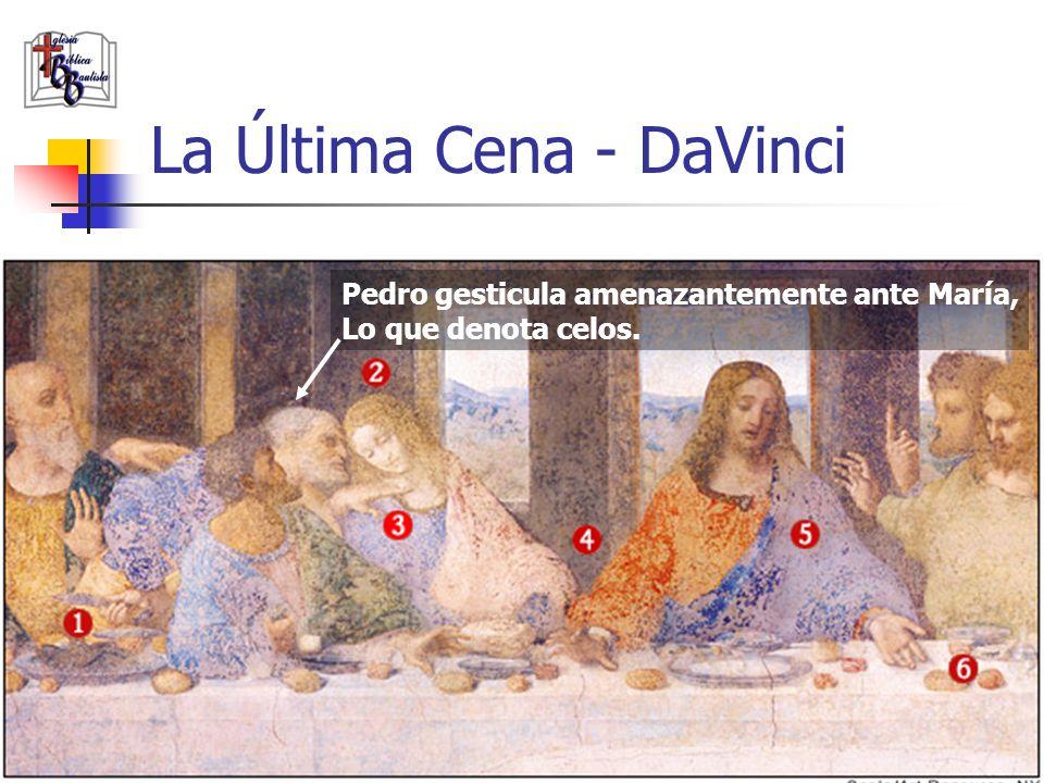 www.iglesiabiblicabautista.org 19 La Última Cena - DaVinci La figura sentada a la derecha de Jesús es María Magdalena, no Juan.