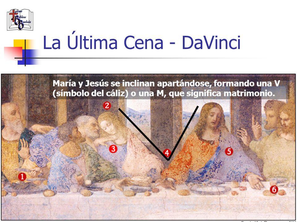 www.iglesiabiblicabautista.org 20 La Última Cena - DaVinci Pedro gesticula amenazantemente ante María, Lo que denota celos.