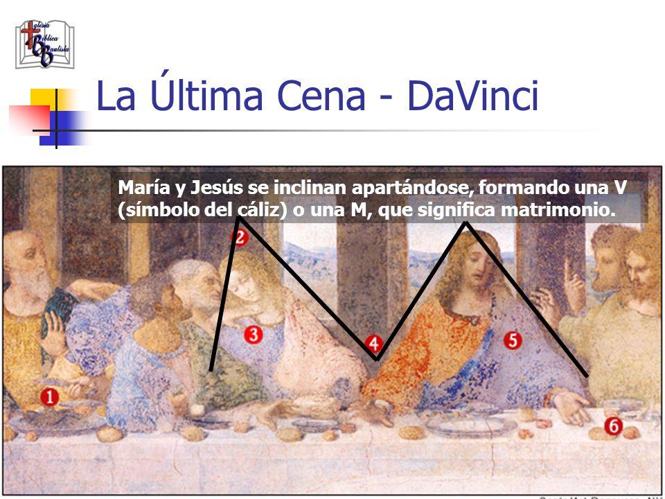 www.iglesiabiblicabautista.org 21 La Última Cena - DaVinci María y Jesús se inclinan apartándose, formando una V (símbolo del cáliz) o una M, que sign