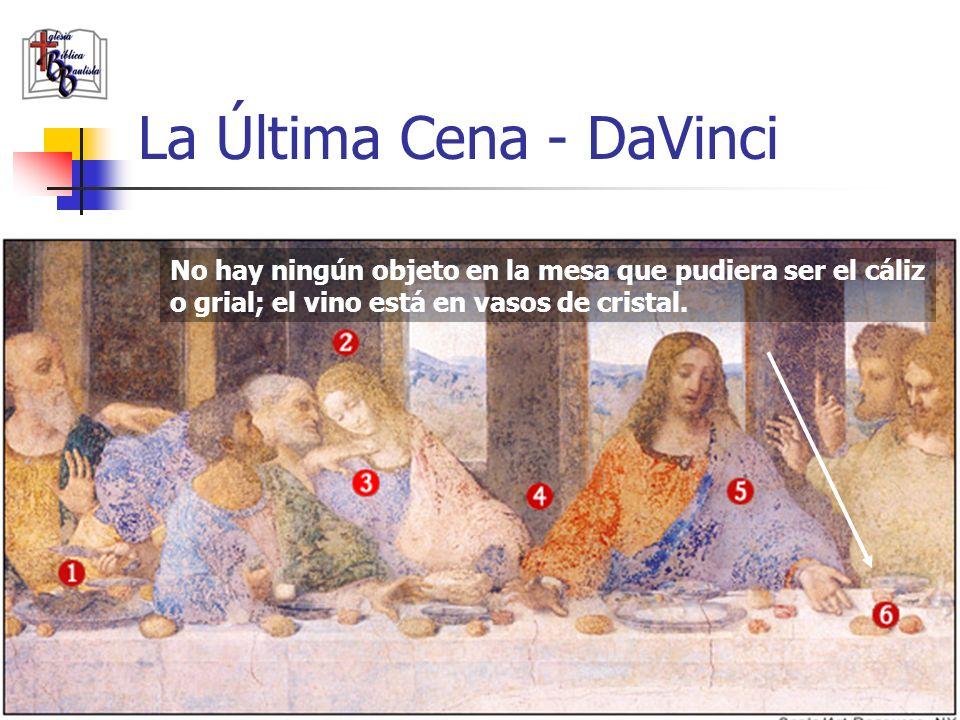 www.iglesiabiblicabautista.org 22 La Última Cena - DaVinci María y Jesús se inclinan apartándose, formando una V (símbolo del cáliz) o una M, que sign