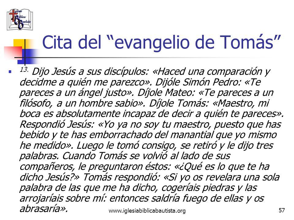 www.iglesiabiblicabautista.org 56 El Gnosticismo Este evangelio de Judas no es ni de Judas ni es evangelio. Es un escrito gnóstico para difundir la en