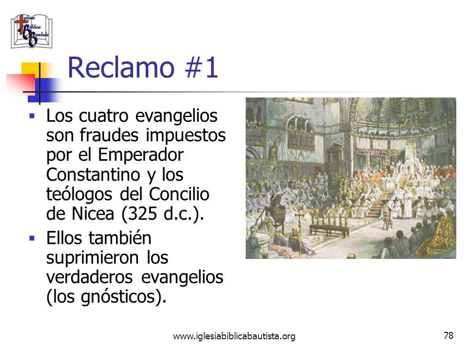 www.iglesiabiblicabautista.org 77 Desmintiendo los reclamos del Código DaVinci En adición a lo que mencionamos en el compendio al inicio del estudio,