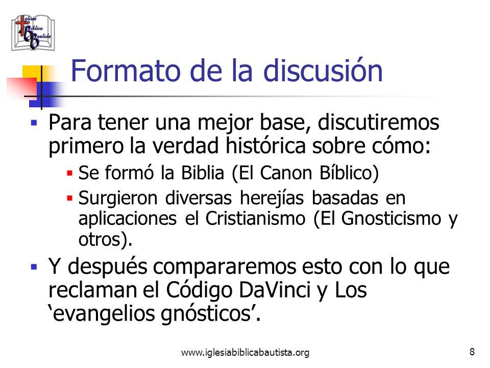 www.iglesiabiblicabautista.org 7 Introducción ¿Cuál es la relación entre el Código Da Vinci (CDV) y el gnosticismo? Al reclamar que casi todo lo que l