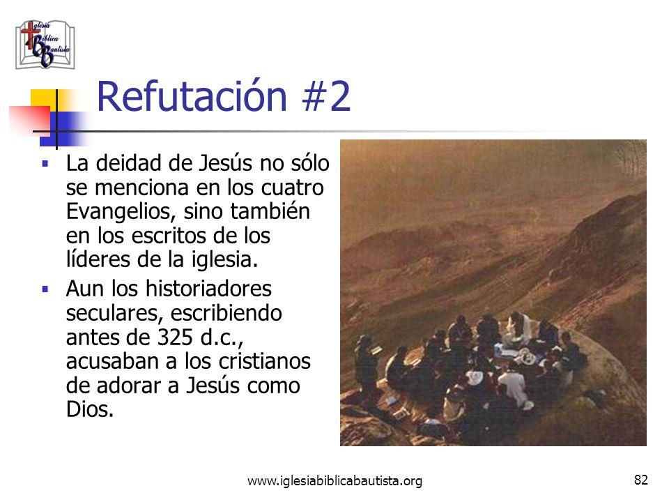 www.iglesiabiblicabautista.org 81 Reclamo #2 Jesús no fue ni reclamó ser Dios; todo esto fue un invento impuesto a duras penas por el Concilio de Nice