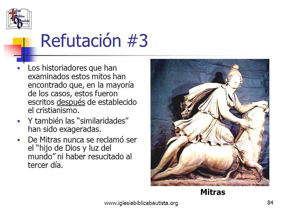 www.iglesiabiblicabautista.org 83 Reclamo #3 El nacimiento virginal de Jesús y su resurrección fueron sacados de la mitología pagana (el CDV menciona