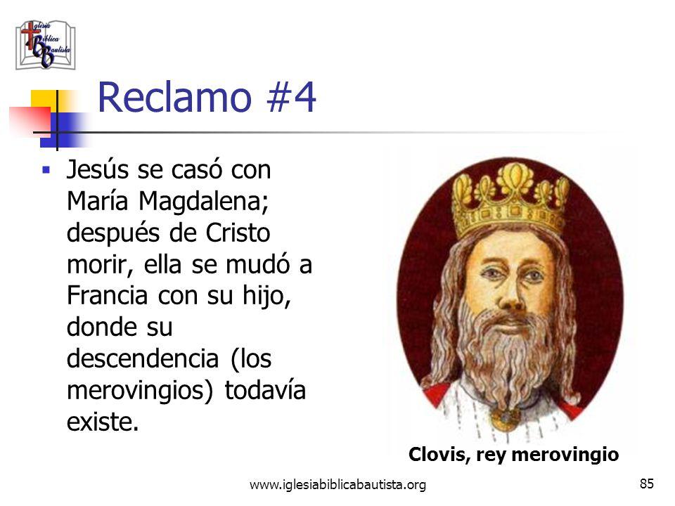www.iglesiabiblicabautista.org 84 Refutación #3 Los historiadores que han examinados estos mitos han encontrado que, en la mayoría de los casos, estos