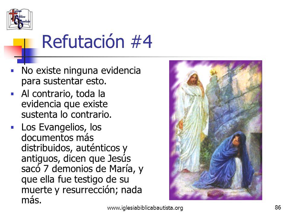www.iglesiabiblicabautista.org 85 Reclamo #4 Jesús se casó con María Magdalena; después de Cristo morir, ella se mudó a Francia con su hijo, donde su