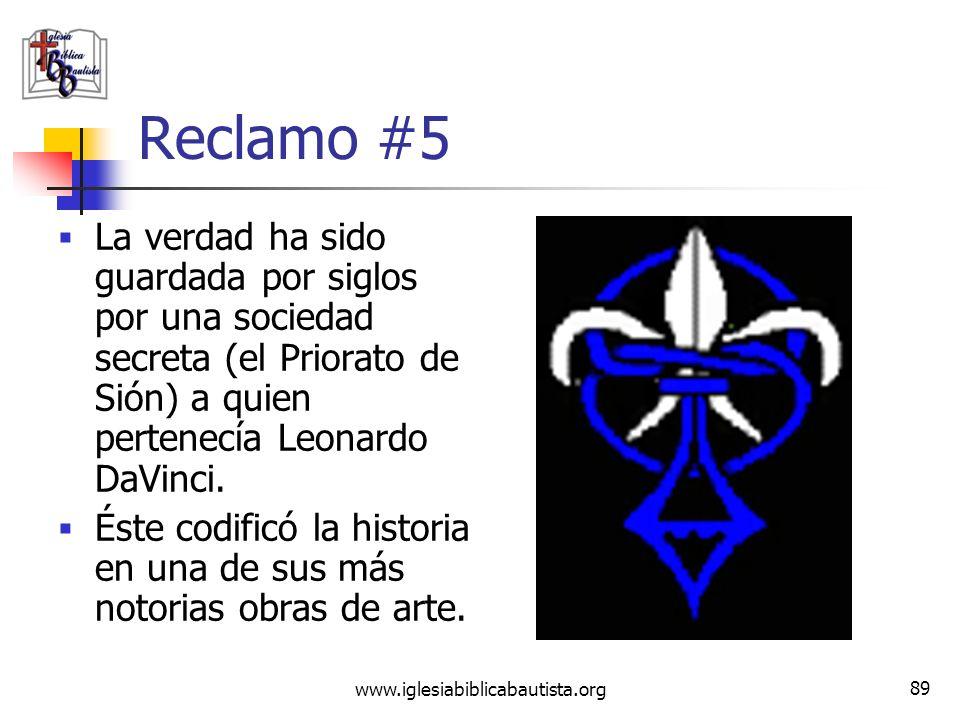 www.iglesiabiblicabautista.org 88 Refutación #4 El CDV se basa en el evangelio de Felipe y el evangelio de María, ambos desacreditados, para esto. La