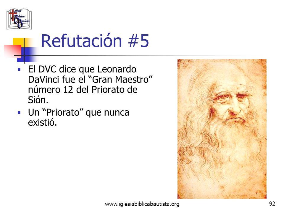 www.iglesiabiblicabautista.org 91 Refutación #5 Este Priorato de Sión del siglo XX tiene raíces rosacruces. Este Pierre Plantard (1920- 2000) era un l