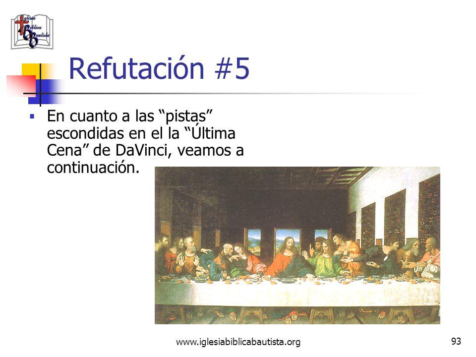 www.iglesiabiblicabautista.org 92 Refutación #5 El DVC dice que Leonardo DaVinci fue el Gran Maestro número 12 del Priorato de Sión. Un Priorato que n