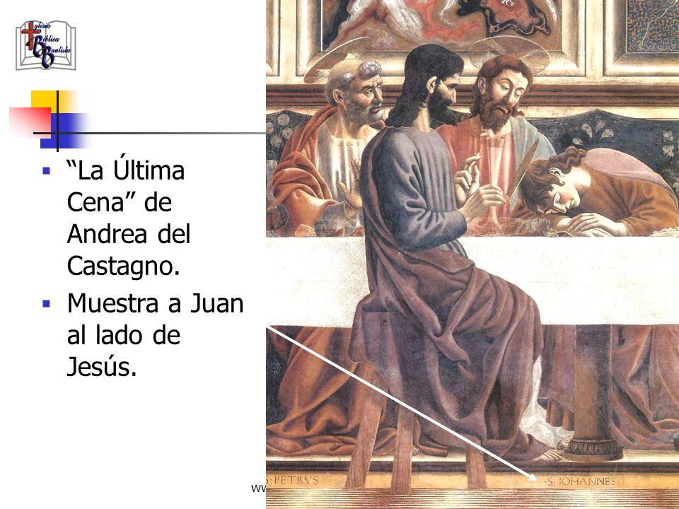 www.iglesiabiblicabautista.org 95 La Última Cena - DaVinci Otras pinturas de la época y copias de este Mismo cuadro identifican a la figura al lado de