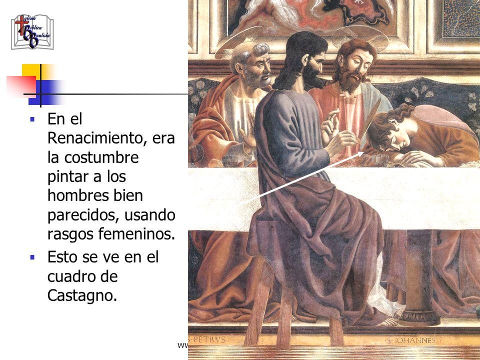 www.iglesiabiblicabautista.org 96 La Última Cena de Andrea del Castagno. Muestra a Juan al lado de Jesús.